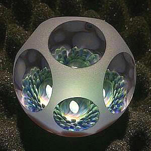 Opal Basket Marble Blue Green
