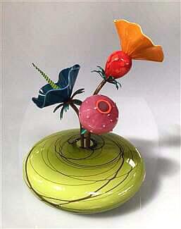 Ikebana Vase Olive