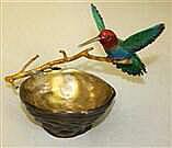 Sapphire Hummingbird and Nest