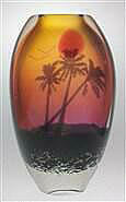 Tropical Sunset Vase