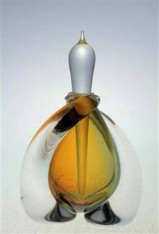 Swirled Perfume Bottle Bronze