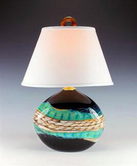 Table Lamp Black Opal Flat