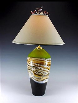 Table Lamp Strata Series Lime