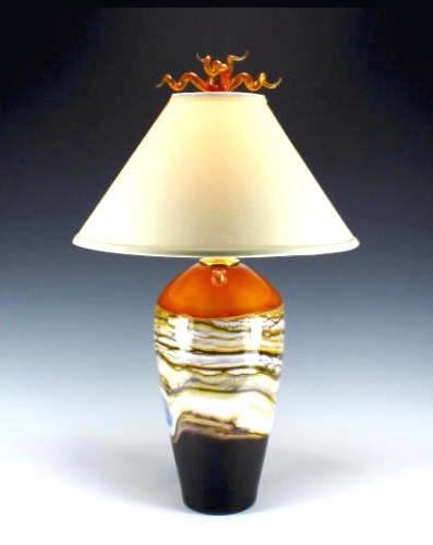 Table Lamp Strata Tangerine