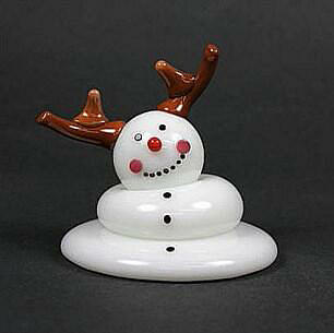 Melting Reindeer Snowman