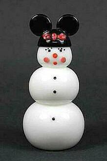 Minnie Mouse Snowman