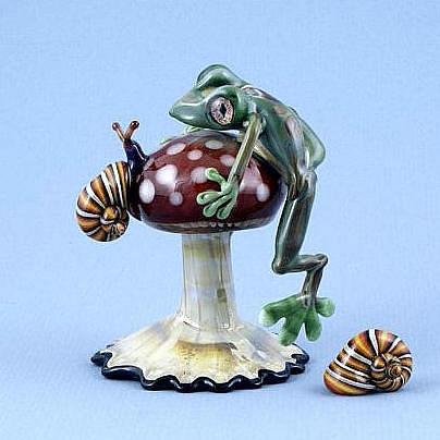 Frog and Snail on Mushroom
