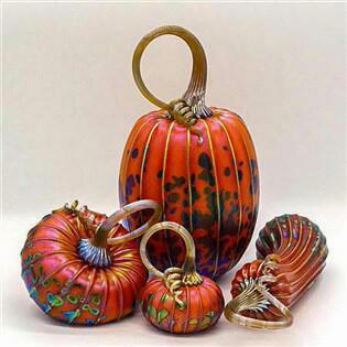 Harvest Orange Pumpkin Set