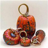 Harvest Orange Pumpkin Set