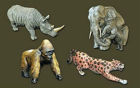 African Wildlife Collage by Barry Stein