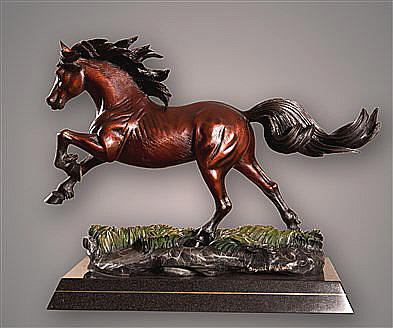 Crown Royal Bronze Horse Sculpture by Barry Stein