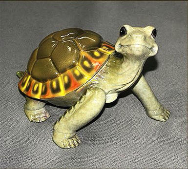Daden Multi - Color Brown Bronze Turtle Sculpture
