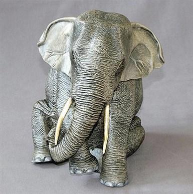 Wild African Elephand Papa Bronze Sculpture