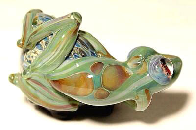 Reverse View Of Frog on Geode