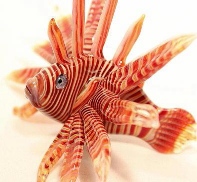 Lionfish Sculpture by Glass Artist Tim Lindemann