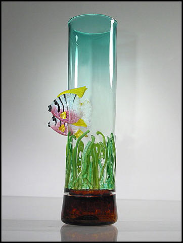 Angel Fish Vase by GlassMaster David Leppla