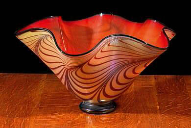 Florentine Bowl Interior - Ruby Red