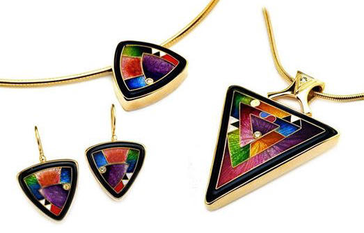 Magick Cloisonne Jewelry Colage By Internationally Famous Designers