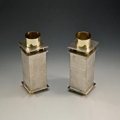 Mesh Pattern Candle Stick Holders