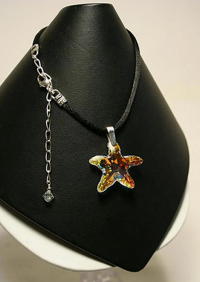 Swarovski Starfish Pendant by Designer Naomi Johnson