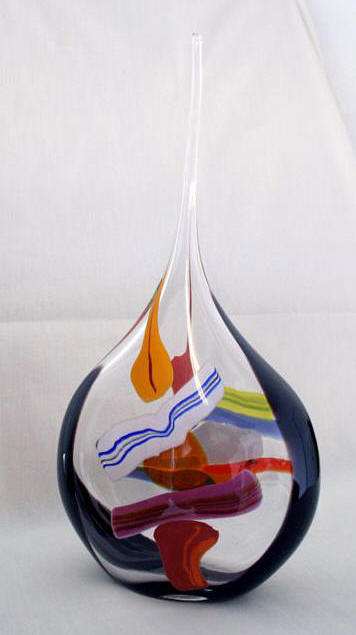 Boar Glass Glass and Blue Sail Glass Vessel