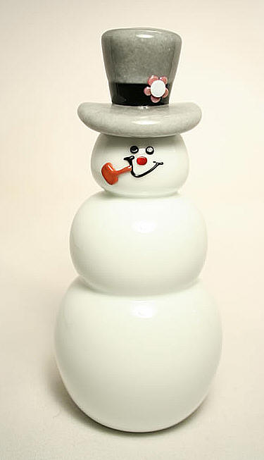 GlassMaster Thomas P. Kelly and Vitrix Frosty the Snowman