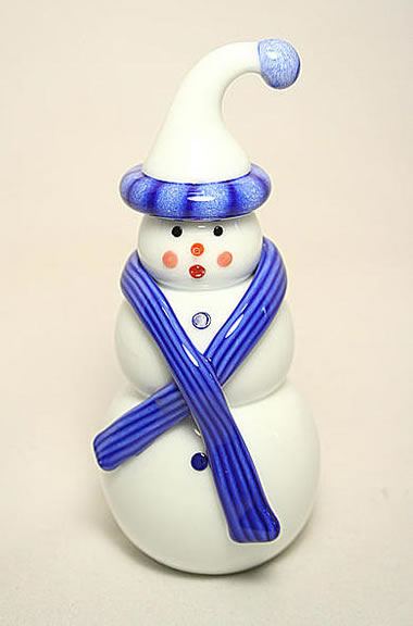 Vitrix Blue Stocking Snowman
