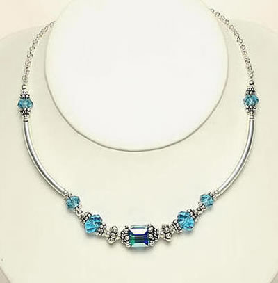 Swavorski Necklace Indicolite by Designer Naomi Johnson