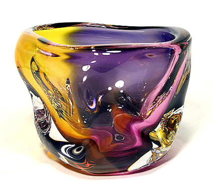 River Series Vase Royal by GlassMaster Paul harrie