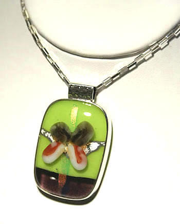 Spring Green Butterfly Pendant